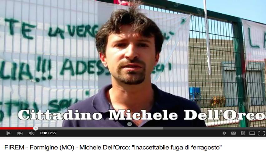 """FIREM - Formigine (MO) - Michele Dell'Orco: """"inaccettabile fuga di ferragosto"""""""